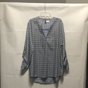 Manhattan Blues Blouse, Tops Blue/White